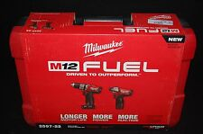 Milwaukee M12 FUEL 2-Tool Combo Kit 2597-22 - NEW IN BOX