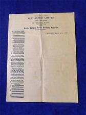 R.F. ASKEW FURNITURE FRAME PRICE LIST ADVERTISING FLYER 1926 REEDS RATTANS