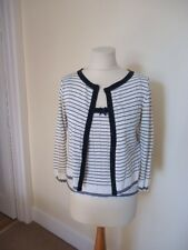 ANONYMOUS BY ROSS + BUTE NAVY AND WHITE TWINSET