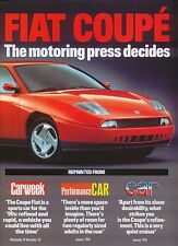 Fiat Coupe original Fiat Reprint of Press comments 1994
