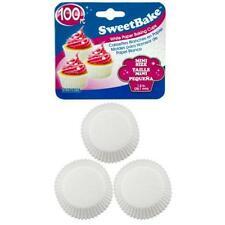 "Mini White Jumbo Cupcake Baking Cups Paper Cupcakes Muffins 1.5"" 100 PIECE"
