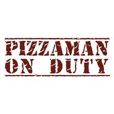 Pizzaman sui dazi Consegna Pizza Funny Auto Van Paraurti Decalcomania adesivo Rosso bordeaux
