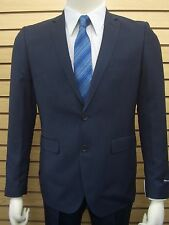 Men's Navy Blue Herringbone Slim Fit Dress Suit SIZE 46L NEW