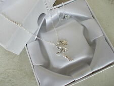 1 X BOXED,CLEAR CRYSTAL TINKERBELL/FAIRY/STAR PENDANT,SILVER COLOURED NECKLACE