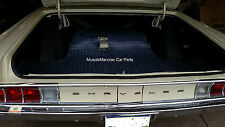 1965-1966 Chrysler 300 & Newport Convertible RUBBER TRUNK MAT Gray Plaid 65 66