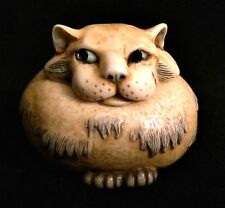 Pot Bellys Cat with Mouse JANUS 2001 Trinket Ring Box 2 inches Tall