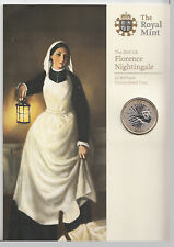 2010 £ 2 libra moneda Florencia Nightingale 1820 - 1910 Bu presentación Pack