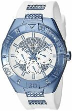 Guess Women's Sporty White Sky Blue Accents Multi-Function Dial Watch - U0653L2