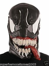 The Amazing Spider-Man Venom Adult Vinyl 3/4 Mask Marvel Comics New Rubies 36307