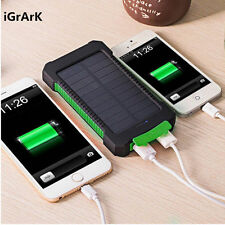 Waterproof 300000mAh Portable Solar Charger Dual USB Battery Power Bank for Phon