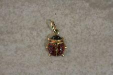 """Small Italian 18K Gold Enamel Ladybug Pendant """"Gemmarius"""""""