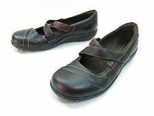 Clarks Bendables Sixty Cape Mary Janes Womens 7 Brown Leather Slip On Comfort