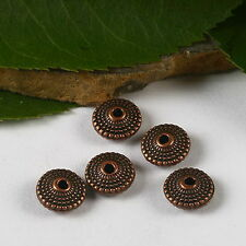 34pcs copper-tone oblate spacer beads h2911