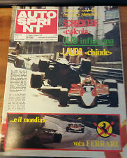 AUTO SPRINT ANNO XIX 1979 - SCHECKTER - CLAY RAGAZZONI - NIKI LAUDA FERRARI L-G