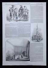 ANTONIO LOPEZ DE SANTA ANNA & MARIANO ARISTA MEXICO 1pp PRINT / ARTICLE 1843
