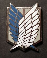 Attack on Titan Pin-Back Emblem Enameled Metal Recon Corps Wings of Freedom