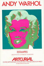 AFFICHE ORIGINALE ANDY WARHOL Exposition Estampes 1990