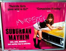 Cinema Poster: SUBURBAN MAYHEM 2007 (Quad) Emily Barclay Mia Wasikowska