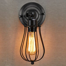 Industrial Retro Vintage Wustic Sconce Wire Cage Wall Light Fixture Home Decor