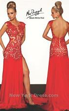 61041R Red MacDuggal Lace Gown Party Evening Formal Dress Prom Size USA 4