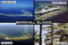 SOUVENIR FRIDGE MAGNET of THE MARSHALL ISLANDS & KWAJALEIN