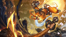 Poster 42x24 cm League Of Legends Wukong Radiante LOL