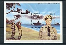 Antigua & Barbuda 1995 MNH WWII VJ Day 50th Peace Pacific 1v S/S Aviation Stamps