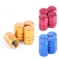 4 x Metal Alloy Tyre Air Valve Dust Caps Covers - Car  Van ATV Bike Motorcycle