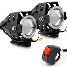 2 pz U7 LED Moto Guida Faro Proiettori Angel Eye+ una tantum sù Interruttore