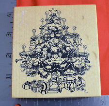 1988 PSX K-370 CHRISTMAS TREE  RUBBER STAMP