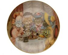 Danbury Mint Fanciful Felines Miss Kittys Tea Party cat plate GB84