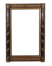 Continental painted and carved giltwood overmantle mirror Lot 189