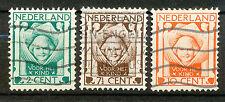 Nederland  141 - 143 gebruikt (3)