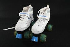 ROLLER DERBY Laser 7.9MX SPEED QUAD SKATE White Blue Girl Youth WMS SZ 4
