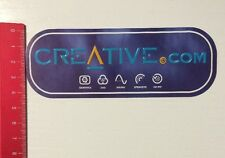 Aufkleber/Sticker: Creative.com - Graphics DVD Sound Speakers CD-RW (01051611)