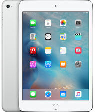 "Brand New Sealed Apple iPad Mini 4 128GB Wi-Fi 7.9"" Silver Tablet iOS Latest"