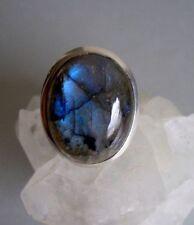 Ring mit Labradorit, 925er Silber, Gr.18,4