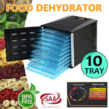 New 10 Tray Food Dehydrator Machine Dryer Maker Commercial Preserve Fruit Jerky