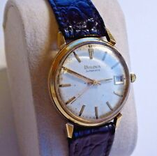 Rare 14K Solid Gold Bulova Automatic 11 ACACD Mens Service Watch, Running