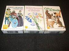 JOB LOT 3 BOXED DECKS HERITAGE COLLECTABLE PLAYING CARDS CATS,FLOWERS,KINGSQUEEN