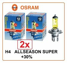 2x H4 ALLSEASON SUPER +30% OSRAM 60/55W 12V P43t All Season Halogen Germany