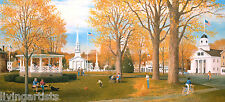 New England BARRE COMMON Autumn 11x18 Frank Bly Giclee Print