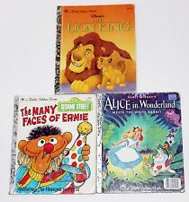 3 Little Golden Books ERNIE SESAME STREET, ALICE IN WONDERLAND & THE LION KING