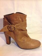 Schuh Brown Ankle Leather Boots Size 39