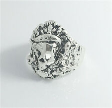 Vintage Woman 316L Stainless Steel Vogue Design Mini Skull Ring Size 9  NEW D6