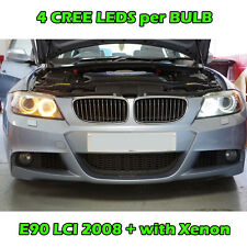 BMW E60 E92  E90 LCI with XENON ANGEL EYES H8 LIGHTS RINGS 20W DRL DAYTIME WHITE