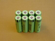 8  Panasonic CGR18650CG Lithium Ion rechargeable battery cells