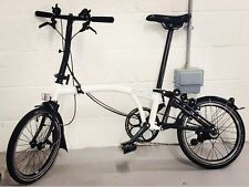 Brand New Brompton Nero/Bianco s6l 2016 (BLACK EDITION)