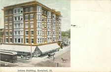 A View of the Ashton Building, Rockford IL 1908