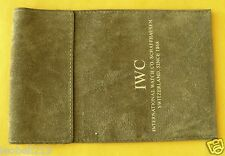 IWC  WATCH OR JEWELERY VELOUR LEATHER POUCH!